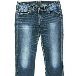 Silver Blue Jeans Size 32 X 24 Aiko Capri Low Rise